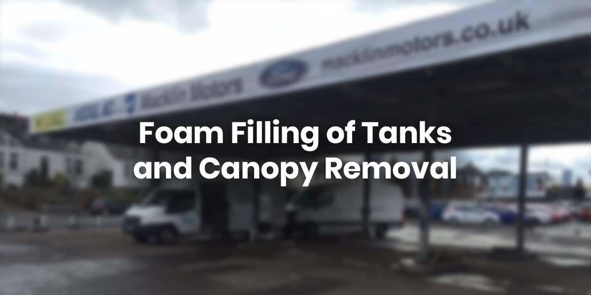 Foam Filling of Tanks and Canopy Removal