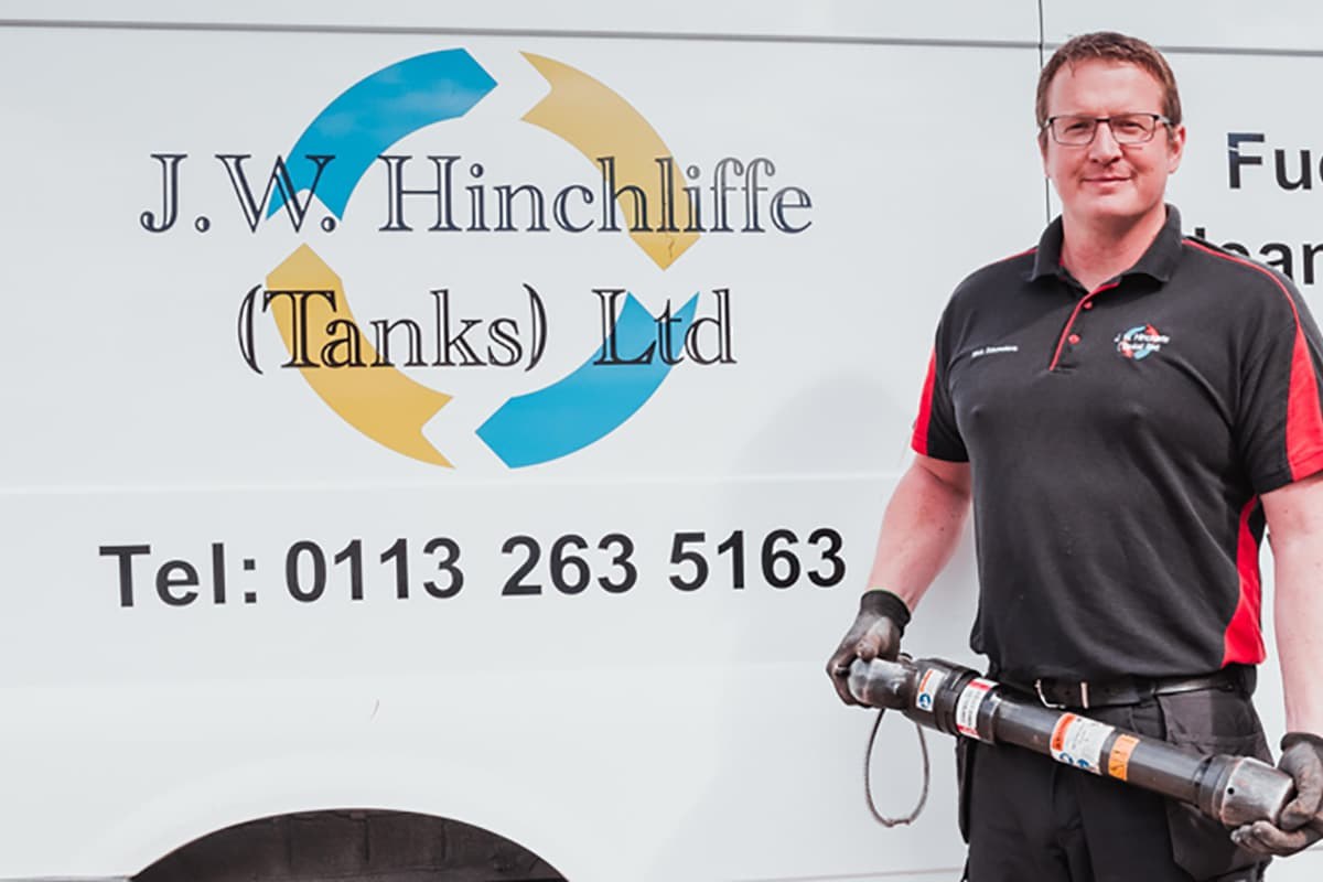 Nick Saunders of J W Hinchliffe Tanks